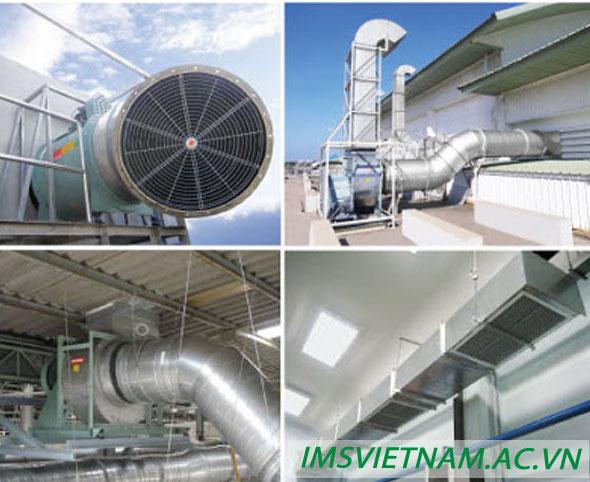 Lắp đặt hệ thống thông gió cho hệ thống nhà xưởng